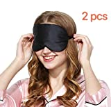 Masque de Sommeil, Masque de Nuit Soie, 100% Soie Naturelle Occultant Ultra-Douce Masque de Voyage Masque de Yeux Sommeil,Masque...
