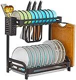 Rack de almacenamiento de chapa de acero muebles de cocina placas secadora, revestimiento en polvo negro - antioxidante,B