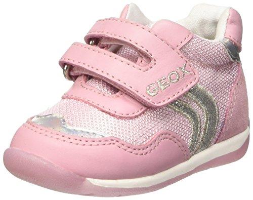 Geox B Each Girl E, Unisex Baby Wanderschuhe für Babys, Pink - Pink - Rose (Pink/Silver) - Größe: 22