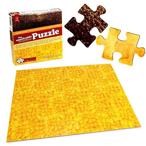 Gadget Storm Unlösbares Puzzle mit Chips & Cola Motiv, 500 beidseitig Bedruckte und Fast identische Teile, Knobelspiel ab 9 Jahren