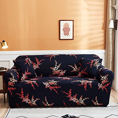 Funda de sofá de Licra con Estampado geométrico, Funda de sofá a Cuadros elástica, Funda Ajustada, Regalo de Año Nuevo de Navidad, decoración del hogar A6, 2 plazas