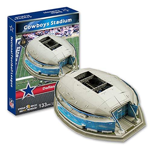 Rugby 3D Stadium Model, Nfl Dallas Cowboys Football Team Home Cowboy Stadium Model Fans Diy Souvenir, 17'×12'×5'