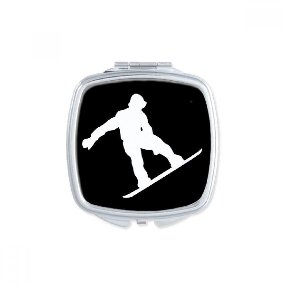 Bombing new work Jumping Skateboarding Sport Black Portable Outline Rapid rise Square Mirror