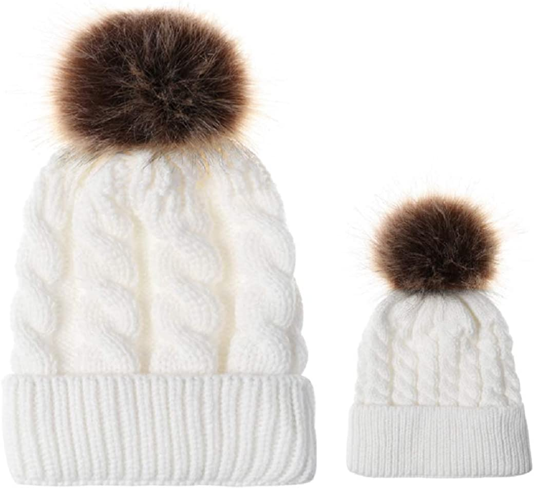 Parent-Child Baby Brand new Winter Hat 2PCS Girl Mother Boy Newborn Boston Mall