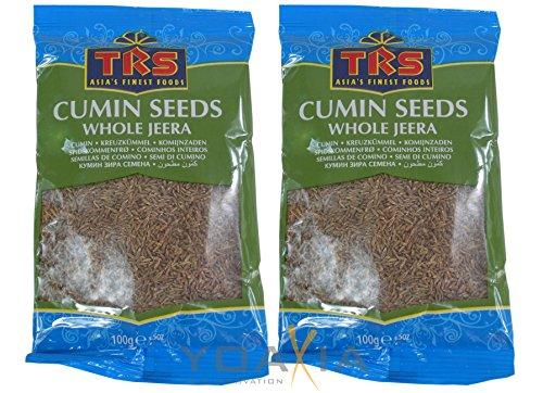 yoaxia ® - 2er Pack - [ 2x 100g ] TRS Kreuzkümmel, ganz / Whole Jeera / Cumin Seeds / Kümmel ganz