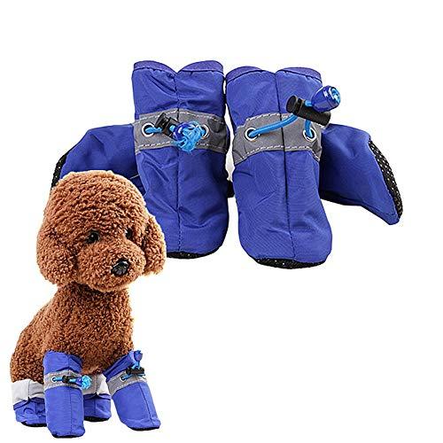Hond Laarzen Beschermende Waterdichte Hond Laarzen Non Slip Hond Sokken Hond Schoenen Antislip Hond Booties Hond Sokken Hond Regen Laarzen blue,#7