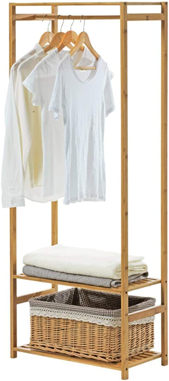 DYR 3 in 1 Wooden Clothes Hangers Clothes Hangers Storage Shelves Clothes Rack, 60 x 30 x 147 cm