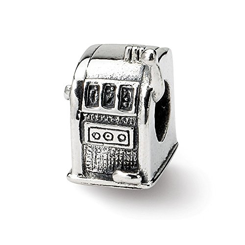 Black Bow Jewellery Company Charm Anhänger-Slot Machine in Silber für 3 mm Charm-Armbänder