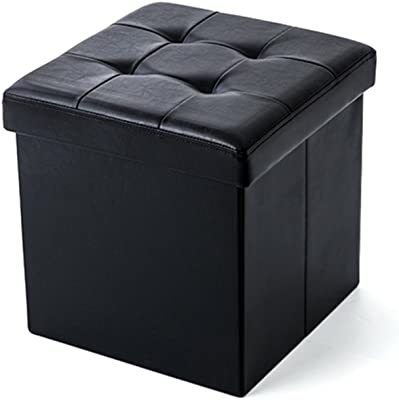 Peachy Amazon Com Shellkingdom Faux Leather Storage Ottoman Cube Andrewgaddart Wooden Chair Designs For Living Room Andrewgaddartcom
