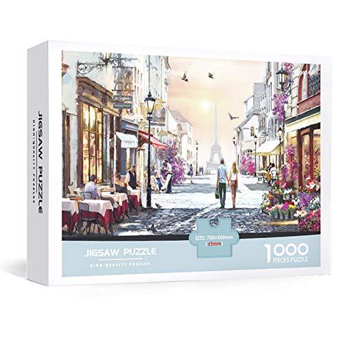 IUKJOL Puzzle 1000 Teile, Challenge Marvel - Die beliebten,Romantisches Paris,als farbenfrohes Puzzle für Erwachsene und Kinder ab 10 Jahren