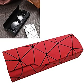 JINJIN Lattice Pattern Portable Glasses Box(White) (Color : Red)