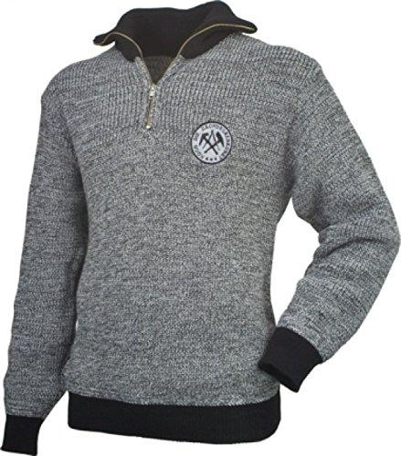 Troyer Pullover Pulli Dachdecker Zunft grau/schwarz mit Zunft-Emblem/Logo (XL)