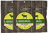Jerky.com s Original Elk Jerky - 3 PACK - The Best Wild Game Elk Jerky on the Market - 100% Whole Muscle Elk - No Added Preservatives, No Added Nitrates and No Added MSG - 5.25 total oz.