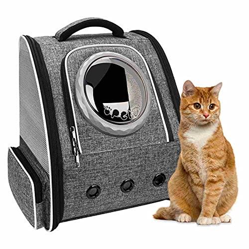 PENCCOR Haustier Hunde Katzen Rucksack Raumkapsel, Tragbar Transportrucksack Transporttasche für Haustiere Reisen Atmungsaktive Rucksack für große Katzen Kleine Hunde (maximale Last 8kg)