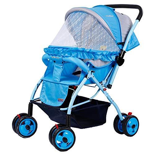 ZhiGe Kinderwagen Sport Baby Kinderwagen leichte Falten Kinderwagen vierrädrigen Kinderwagen atmungsaktiv Reversible Kinderwagen