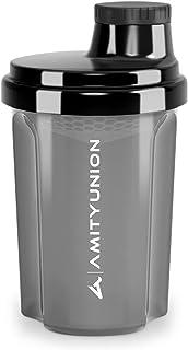 """Protein Shaker 300 ml """"Heaven"""" étanche, sans BPA avec tamis cliquable et balance pour shakes de lactosérum crémeux, coupes..."""