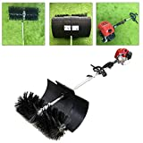 Outdoor Broom Sweeper, 52cc 2.3HP 1.8M Gas Power Broom Walk Behind Sweeper Cleaning Driveway Tools High Performance Cleaner (US SHIPPING)