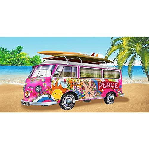 Adore Toallas de playa estampadas ligeras (280 g), diseños vibrantes, bote de...