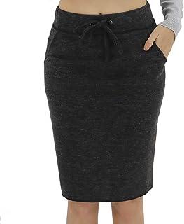 BENANCY Women's High Waist Stretch Pencil Skirt with Pockets