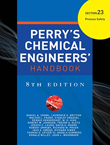 PERRYS CHEMICAL ENGINEERS HANDBOOK 8/E SECTION 23 PROCESS SAFETY (English Edition)