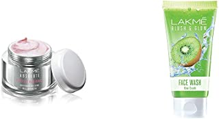 Lakmé Perfect Radiance Fairness Day Creme 50 g & Lakme Blush and Glow Kiwi Freshness Gel Face Wash with Kiwi Extracts, 100 g