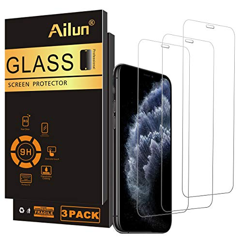 Ailun Screen Protector Compatible iPhone 11 Pro iPhone X Xs iPhone 10 3Pack Full Coverage 2.5D Edge Tempered Glass for iPhone 11 Pro/X/Xs 5.8Inch Anti Scratch Bubble Free Siania Retail Package