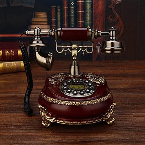 TAIDENG Teléfono Antiguo Teléfono Estilo Europeo Decoración Teléfono Antiguo Sala de Estar Teléfono Retro Teléfono Dial Fijo Dial fijo-20x25x24