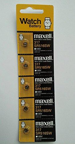 Maxwell SR516SW Silberoxid-Batterien, 1,55 V, 5 Stück
