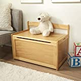 Melissa & Doug Wooden Toy Chest - Natural