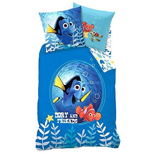 Disney Finding Dory Nemo - Bambini biancheria da letto réversible Dory and Friends 135/200cm