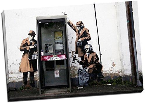 Banksy MI5 GCHQ Spies Kunstdruck auf Leinwand, groß, 76 x 51 cm