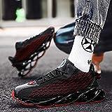 Aerlan Trainer Wanderschuhe,Zapatillas Deportivas Zapatos para Correr,Otoño e Invierno Zapatos de Hombre de caña Alta Malla Zapatos Deportivos de Senderismo-A Black_44#