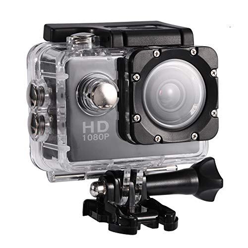 Vbestlife Mini Videocámara Deportiva a Prueba de Agua 1080P Ultra HD 32GB Action Camera al Aire Libre Baterías Recargables con Soporte para Buceo, Nadar, Ciclismo, etc. (Negro)