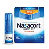 Nasacort Allergy 24HR Nasal Spray for Adults, Non-Drowsy & Alcohol-Free, 120 Sprays, 0.57 fl. oz.