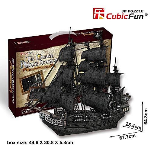 Puzzle 308 pièces - Puzzle 3D - The Queen Anne's Revenge - Difficulté : 8/8
