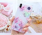 Cocomii Cute Armor iPhone XS MAX Funda Nuevo [Se Siente Bien En La Mano] Bonito 3D-Patrón Silicona De Alivio Antichoque Caja [Entallado] Case Carcasa for Apple iPhone XS MAX (C.Watercolor Flowers)