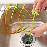 Interesting® 5Pcs Bad Hair Kanalisation Filter Abfluss Reiniger Outlet Kitchen Sink Drian Filter...