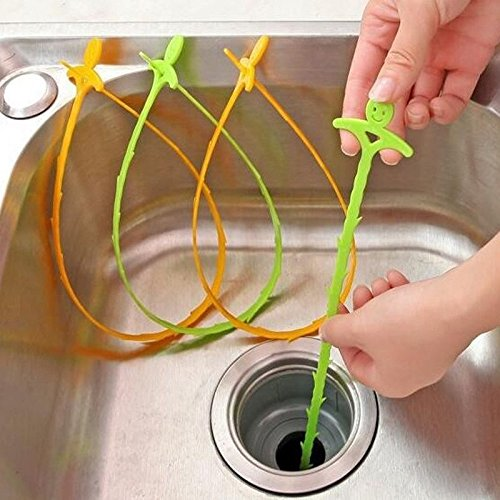 Interesting® 5Pcs Bad Hair Kanalisation Filter Abfluss Reiniger Outlet Kitchen Sink Drian Filter Sieb Anti-Stock Perücke Abbauwerkzeuge verstopfen Verstopfung