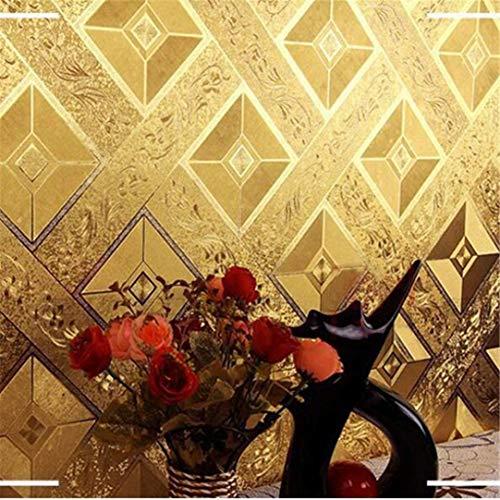 3d behang wandschilderij vliesstof luxe 3D geometrie patroon behang rol grootte PVC plafond kTV woonkamer achtergrond goudfolie glitter behang wandbekleding 400 x 280 cm.