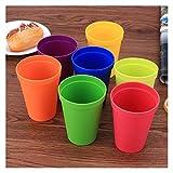 Tazas Cafe 2 juegos de 7 colores del arco iris portátil del juego de la Copa de picnic turismo tazas plásticas Taza tazas plásticas Agua Batalla Conjunto niños taza de la bebida Conjuntos de taza y pl