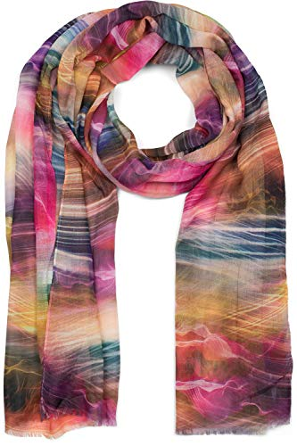 styleBREAKER Dames sjaal met maritieme golven print, lente zomer stola, sjaal, sjaal 01016197