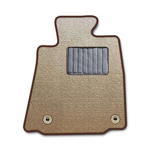 DAD ギャルソン D.A.D エグゼクティブ フロアマット NISSAN ( ニッサン ) PINO ピノHC24S 1台分 GARSON エレガントデザインベージュ/オーバーロック(ふちどり)カラー : ブラウン/刺繍 : 無し/ヒールパッドグレー C