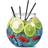 Plastic Cocktail Fish Bowl 3ltr / 18.5cm - Single | Party Fishbowl | Diameter: 185mm | Non-Decorative Clear Fishbowl (Props not included)