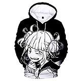 DAVIKO Women's Himiko Toga Hoodie Anime My Hero Academia Hoodies Asui Tsuyu Hoodie BNHA Cosplay Costume Outfit Girls White