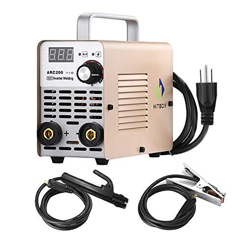HITBOX ARC Welder 200A Stick DC 220V Inverter Welding Machine MMA200 ZX7 Rod Stick Portable Welder Complete Package Ready to Use