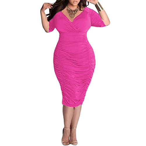 Plus Size Pink Dress: Amazon.com