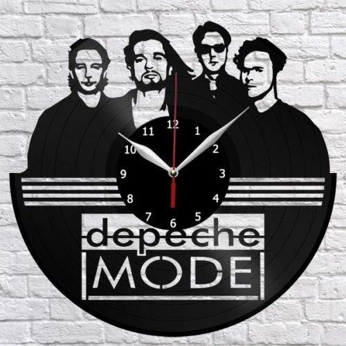 Depeche Mode Horloge murale en forme de disque vinyle Décoration murale vintage Cadeau original