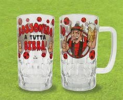 Boccale Birra Milan Tifoso Milanista Caraffa Vetro Manico in scatola nuovo