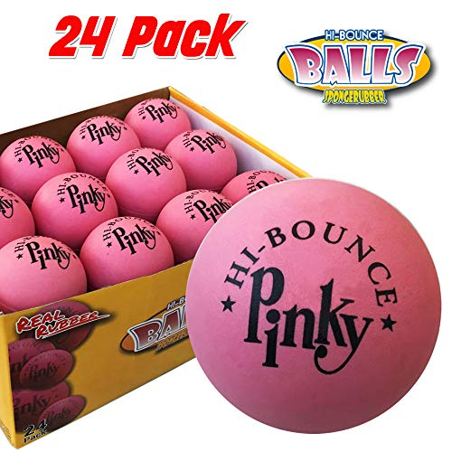 "Pinky Ball 2.5/"" Hi Bounce Large Pink Rubber Balls for Play or Massag Pack of 6"