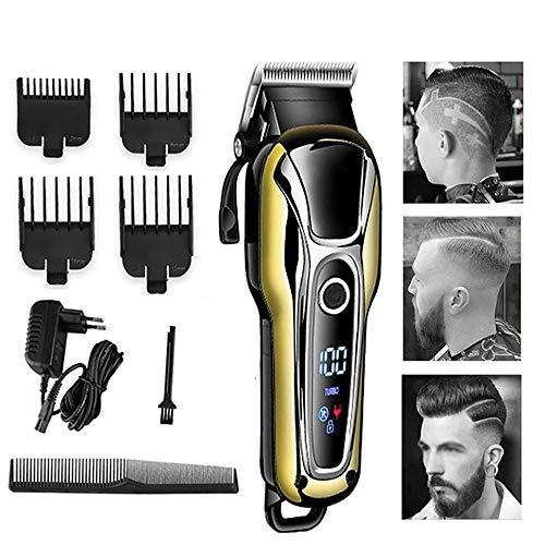 Haartrimmer voor mannen, Professionele haartrimmer Oplaadbare elektrische tondeuse Herenkapsel Verstelbare draadloze scheerapparaathaartrimmer